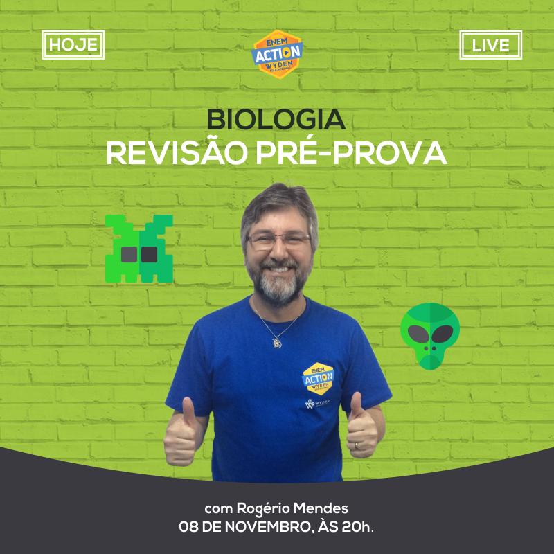 Aula ao vivo de Biologia – Revisão pré-prova